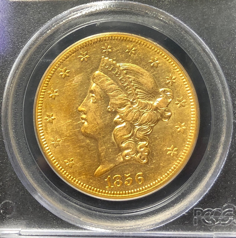 1856-S $20 Liberty PCGS AU50 CAC S.S. Central America