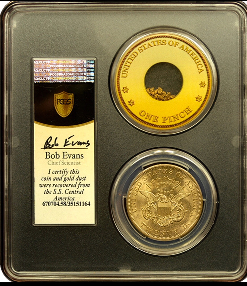 1856-S $20 Liberty PCGS AU58 SSCA second recovery