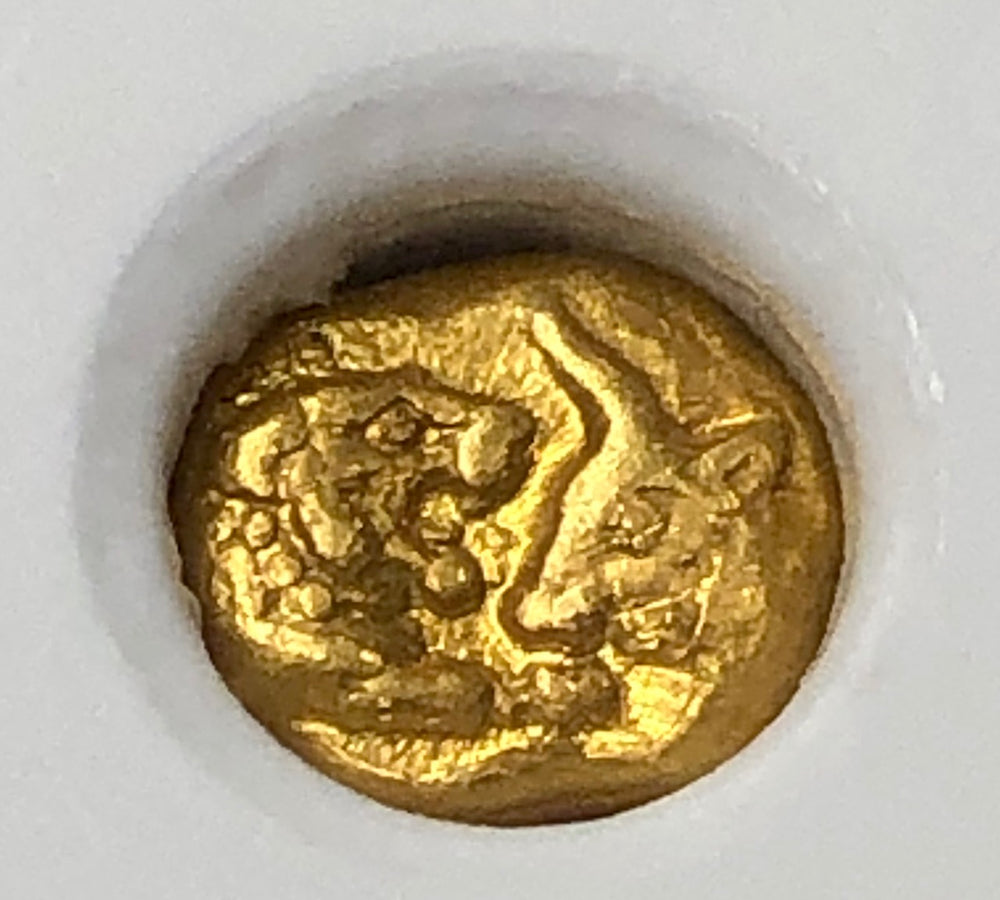 "King Croesus 1/12 Gold Stater ""Light Series"" NGC XF Lion & Bull"