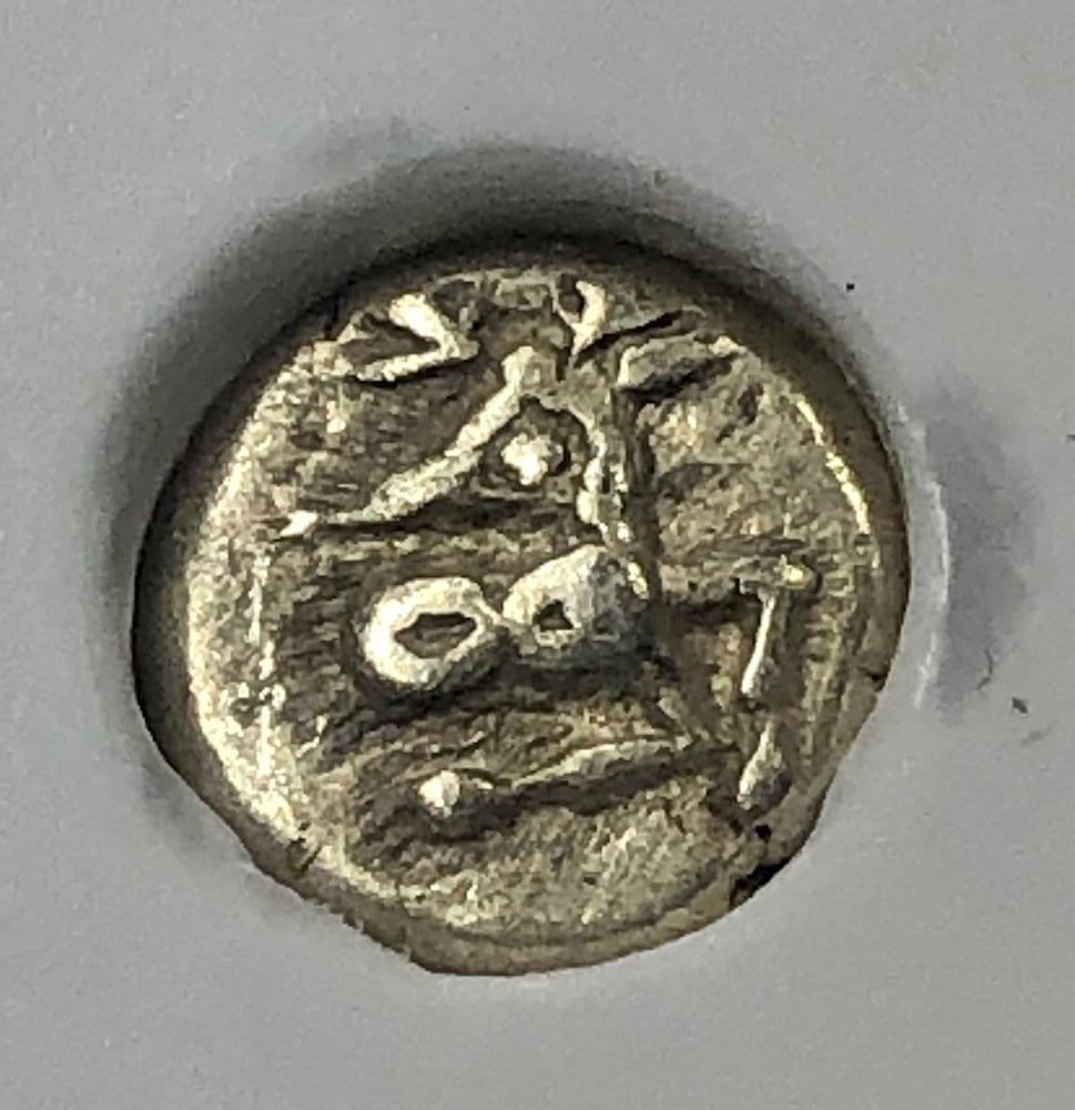Load image into Gallery viewer, Phanes 625-600 BC EL 1/12 Stater NGC XF Stag