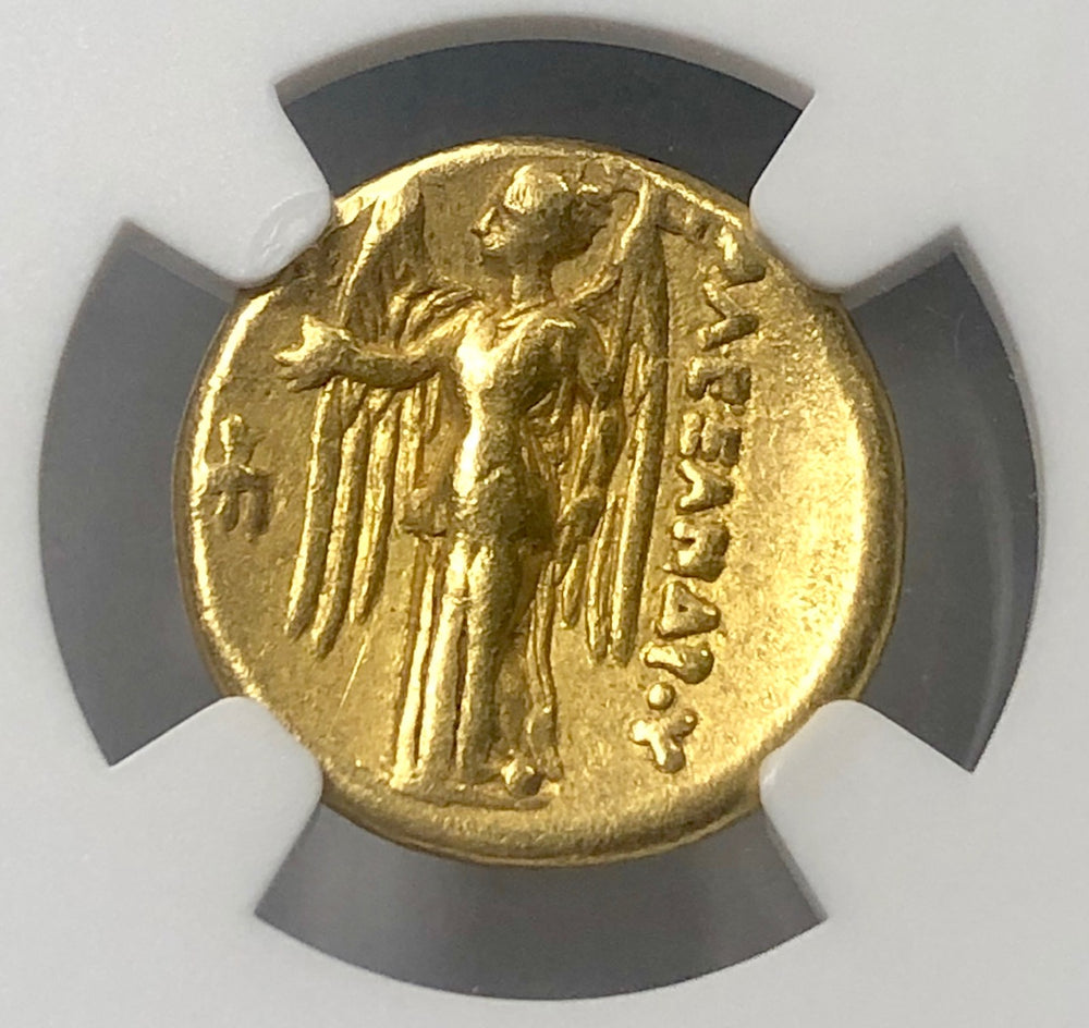 Alexander the Great Gold Stater NGC CHVF Lifetime issue