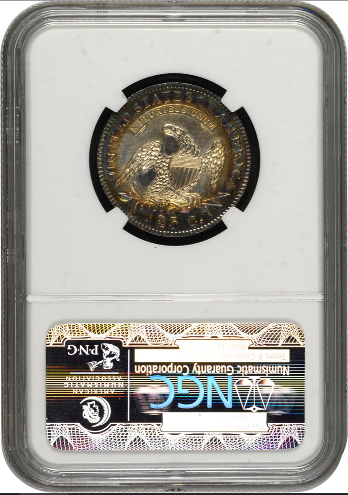 1828 25c Capped Bust NGC MS63* Newman Collection