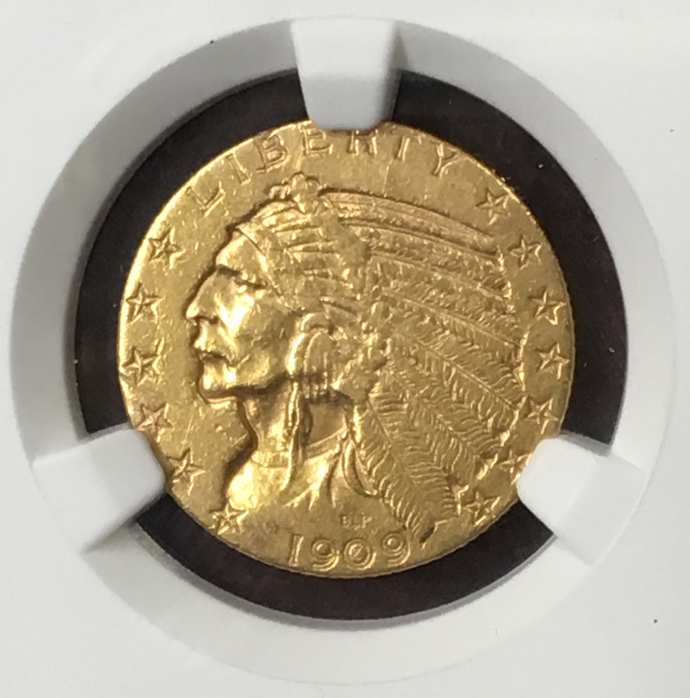 1909-O $5 Indian NGC AU50 New Orleans Gold Rarity