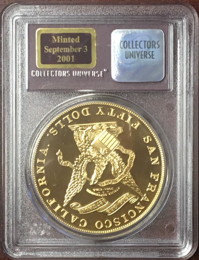 Load image into Gallery viewer, SS Central America $50 Kellogg PCGS Restrike Gem Proof