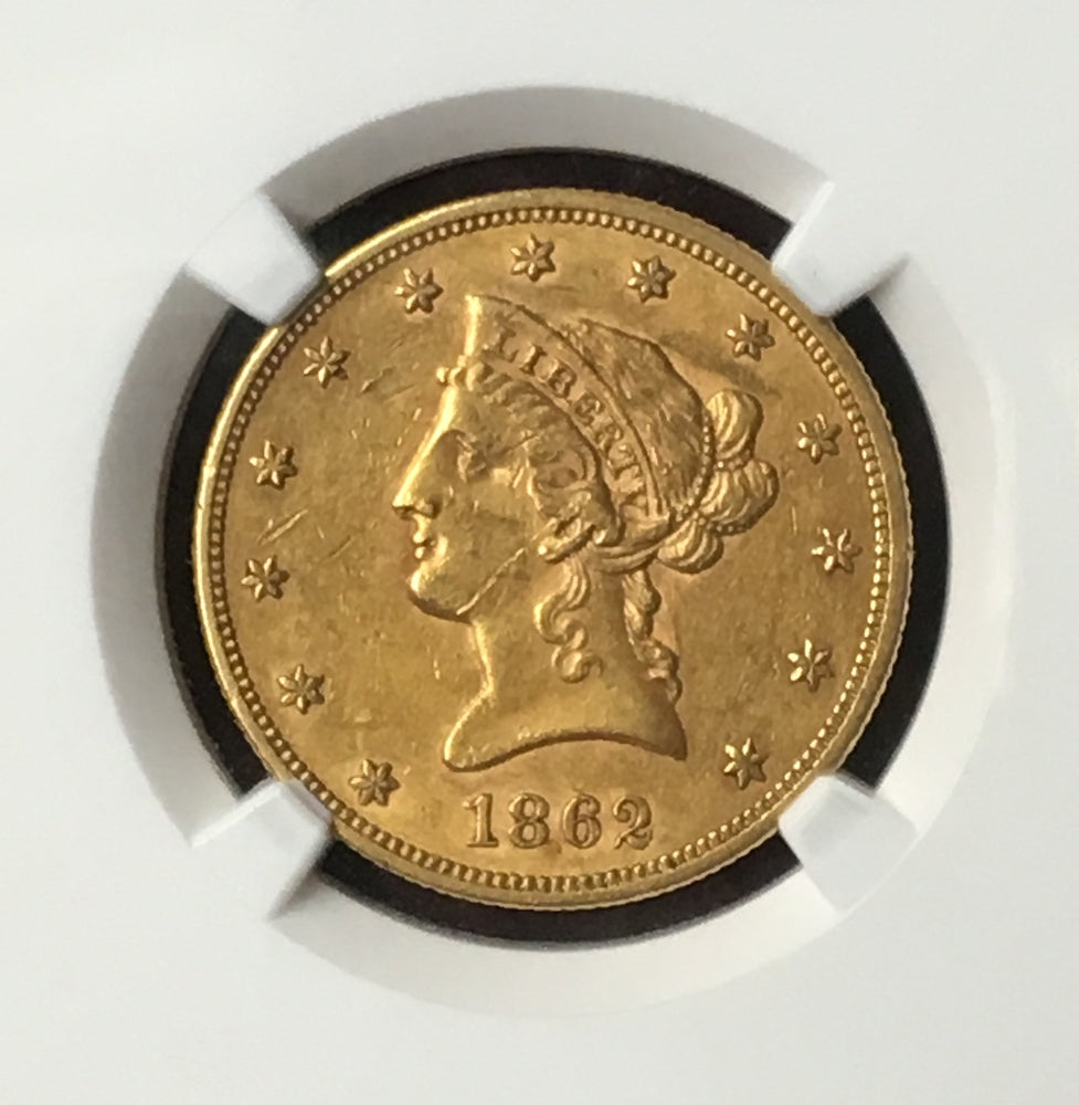 Load image into Gallery viewer, 1862 $10 Liberty NGC AU55 Civil War Gold Eagle