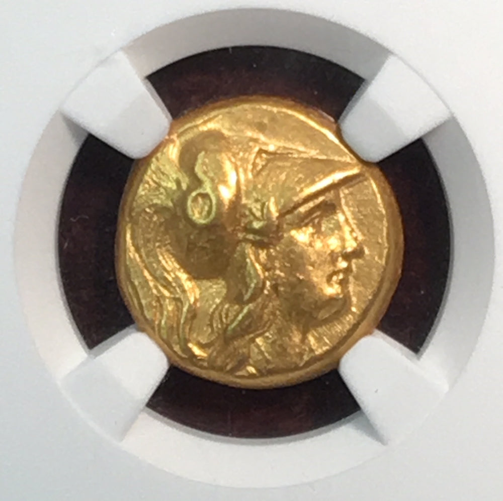 Alexander the Great 336-323 BC Gold Stater NGC CHXF 4x3