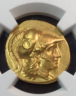 Alexander the Great 336-323 BC Gold Stater NGC MS 5x4