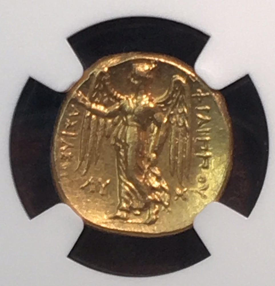 Kingdom of Macedon Philip III Gold Stater NGC CHMS 5x5
