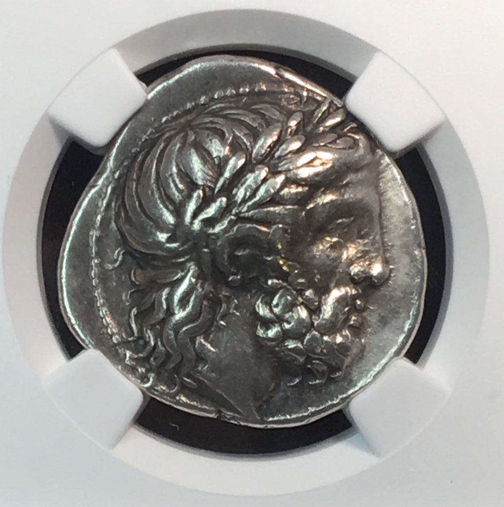 Kingdom of Macedon Philip II Silver Tetradrachm NGC XF 4x3