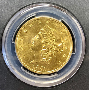 1851-P $20 Liberty Gold PCGS AU58 SSCA SECOND RECOVERY