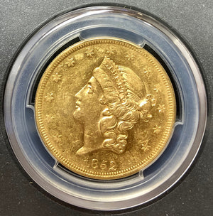 1852-P $20 Liberty Gold PCGS AU53 SSCA SECOND RECOVERY
