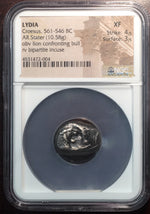 Kingdom of Lydia - Croesus Silver Stater NGC XF Lion & Bull