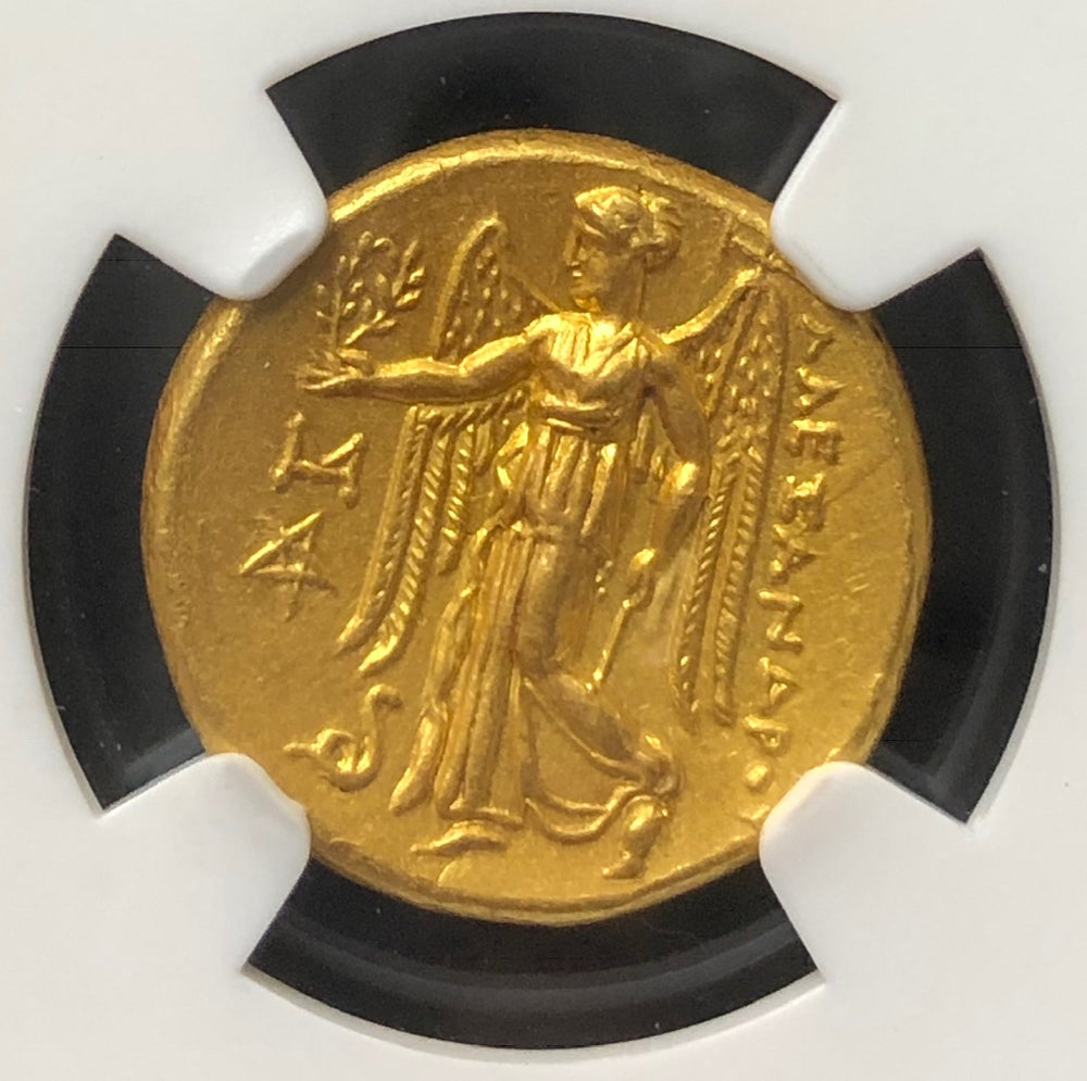 Alexander the Great BC Gold Stater NGC MS 5x5 FINE STYLE
