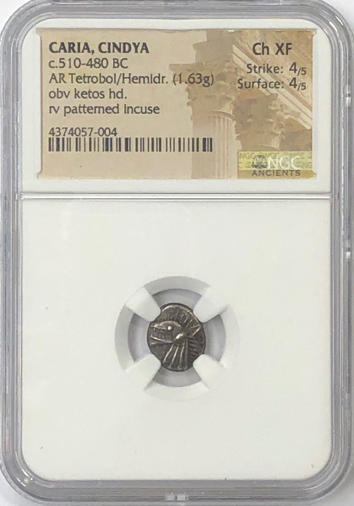 Caria Cindys NGC CH XF 4x4 Ketos the Sea Monster coin