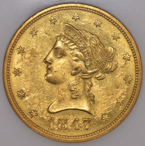 Load image into Gallery viewer, 1847-O $10 Liberty NGC MS61