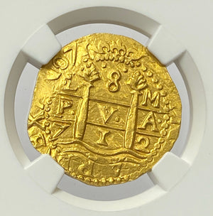Load image into Gallery viewer, 1712L M Peru 8 cob/Escudos NGC MS66 The Sole Finest Certified