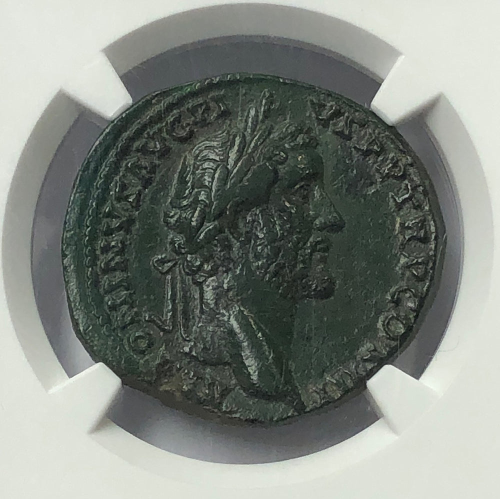 Load image into Gallery viewer, Roman Empire Antoninus Pius AD 138-161 AE Bronze NGC XF