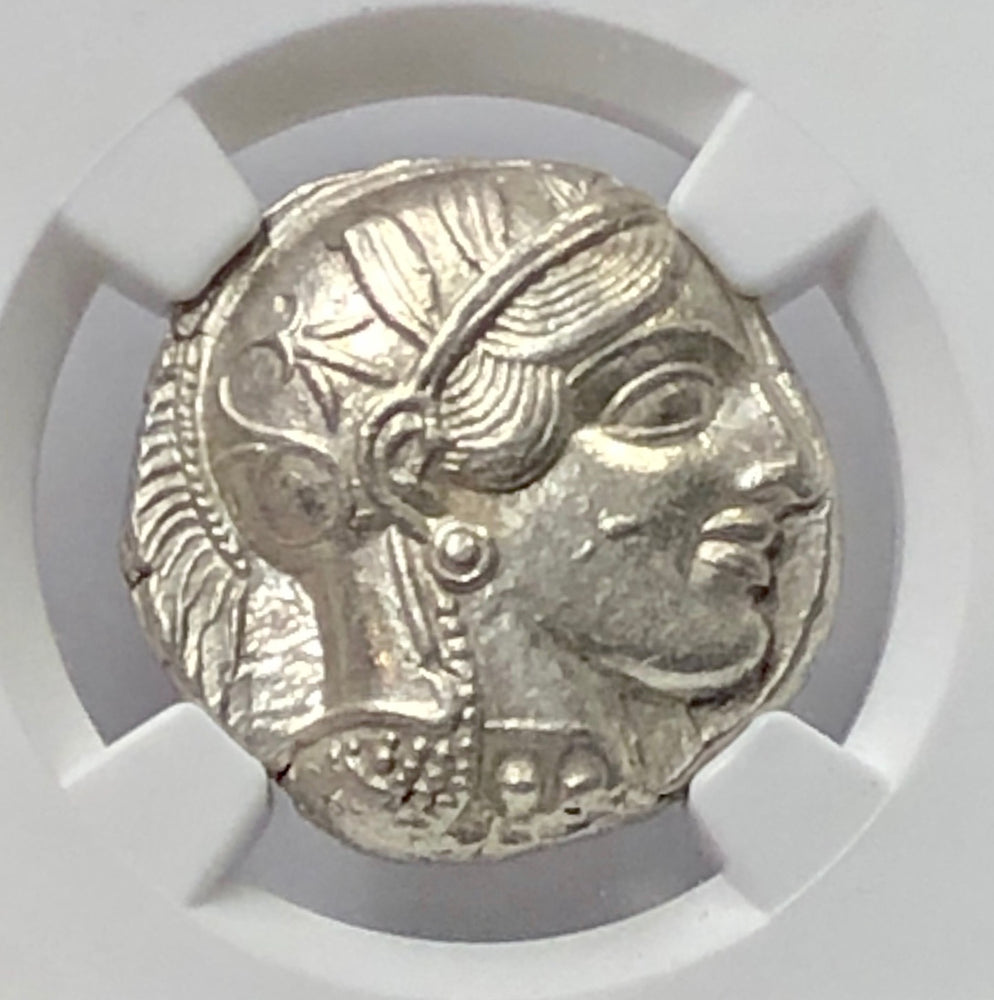 Load image into Gallery viewer, Attica Athens Owl Silver Tetradrachm NGC CHAU*