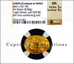 Lydia (Croesus or later) AV Stater NGC MS 5x4
