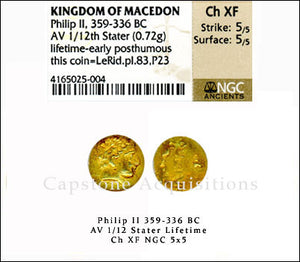 Load image into Gallery viewer, Kingdom of Macedon Philip I NGC ChXF