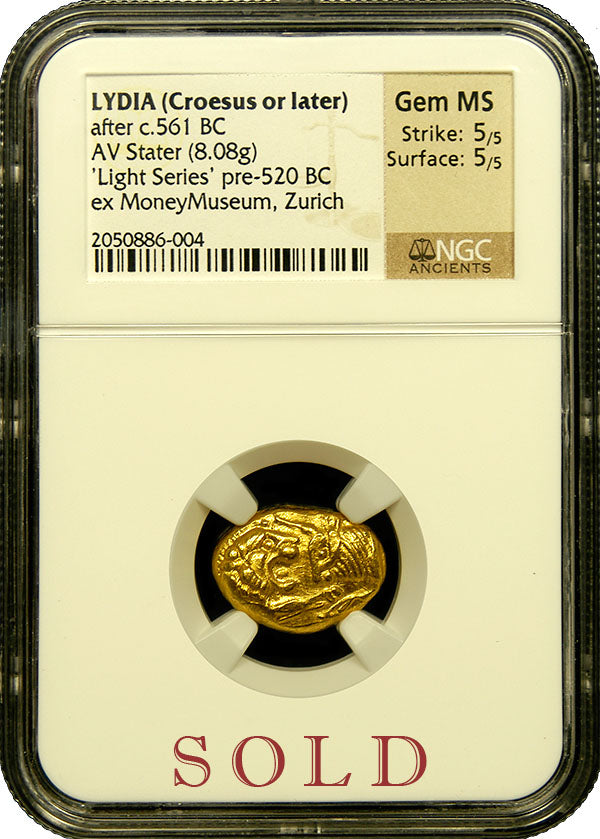 Lydia (Croesus or later) AV Stater NGC Gem MS