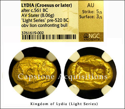 Lydia (Croesus or later) AV Stater NGC AU 5x3
