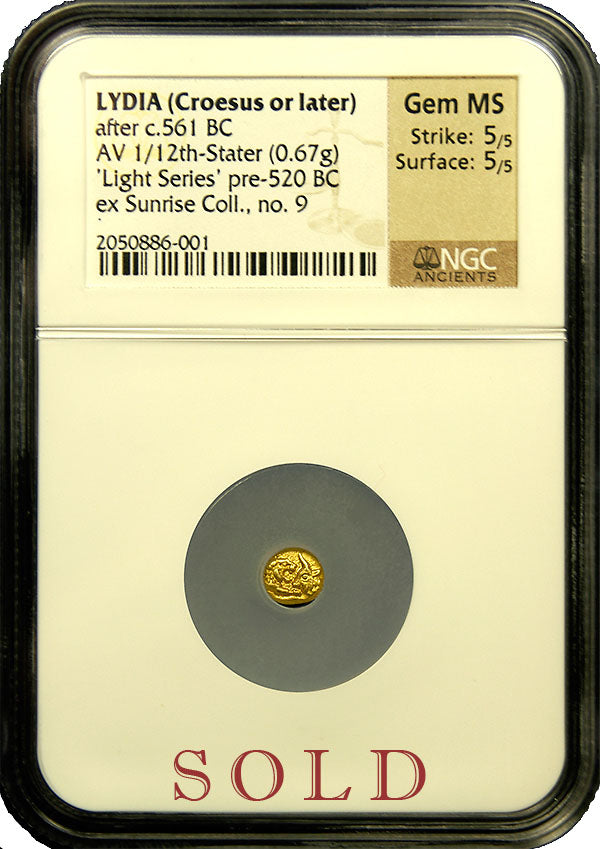 Lydia Croesus twelfth Stater Light Series NGC Gem MS