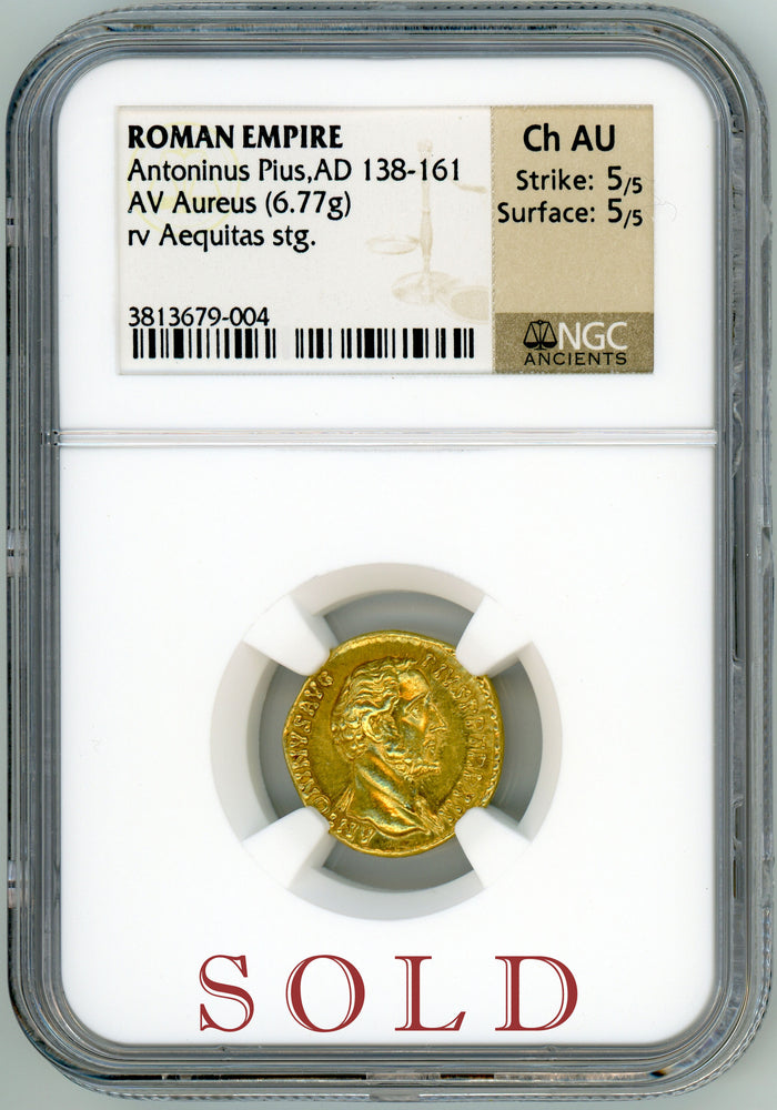 Load image into Gallery viewer, Roman Empire  Antoninus Pius NGC Ch AU