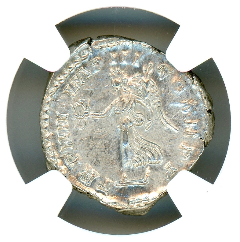 Roman Empire Commodus AR Denarius NGC MS 5x4