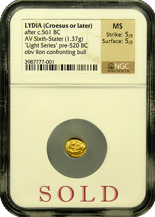 Croesus 1/6th Gold Stater NGC MS