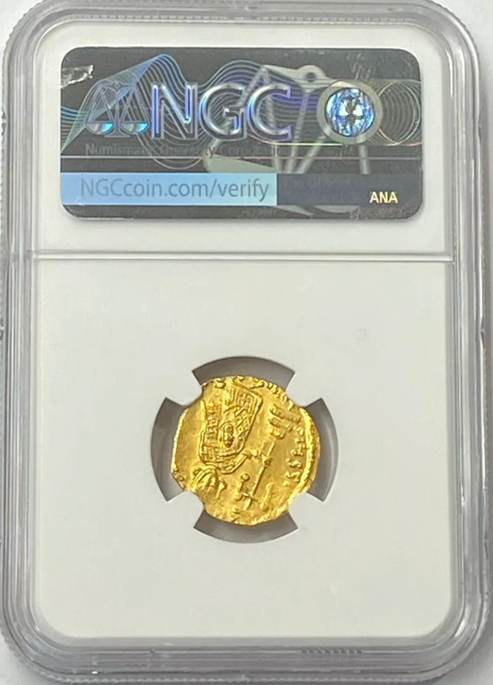 Load image into Gallery viewer, Rare Byzantine Empire Justinian II AD 685-695 Gold Solidus NGC MS