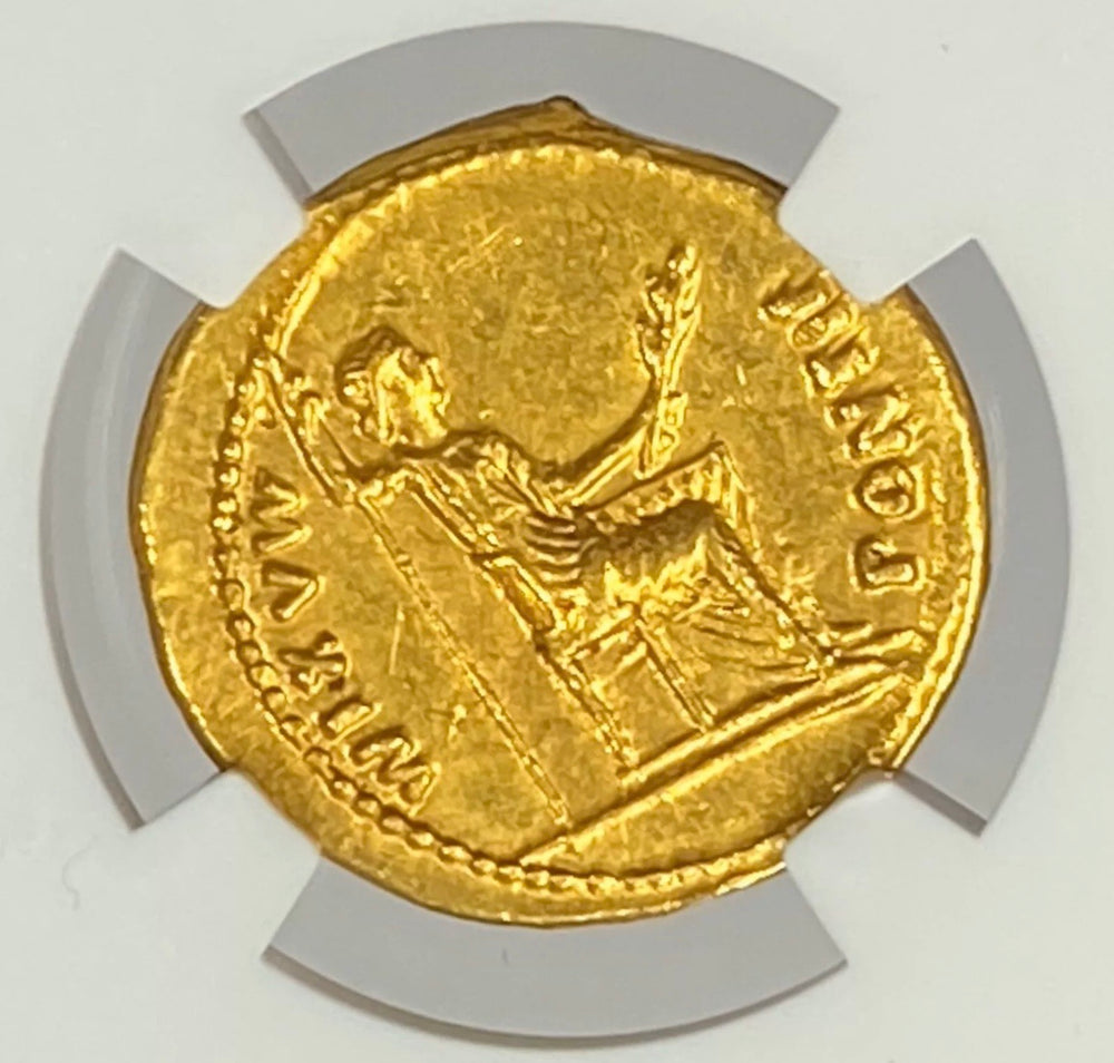 Load image into Gallery viewer, Roman Empire Tiberius AD 14-37 Gold Aureus NGC AU Tribute Penny In Gold Jesus