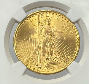Load image into Gallery viewer, 1924-P $20 Saint Gaudens Pre 33 NGC MS62