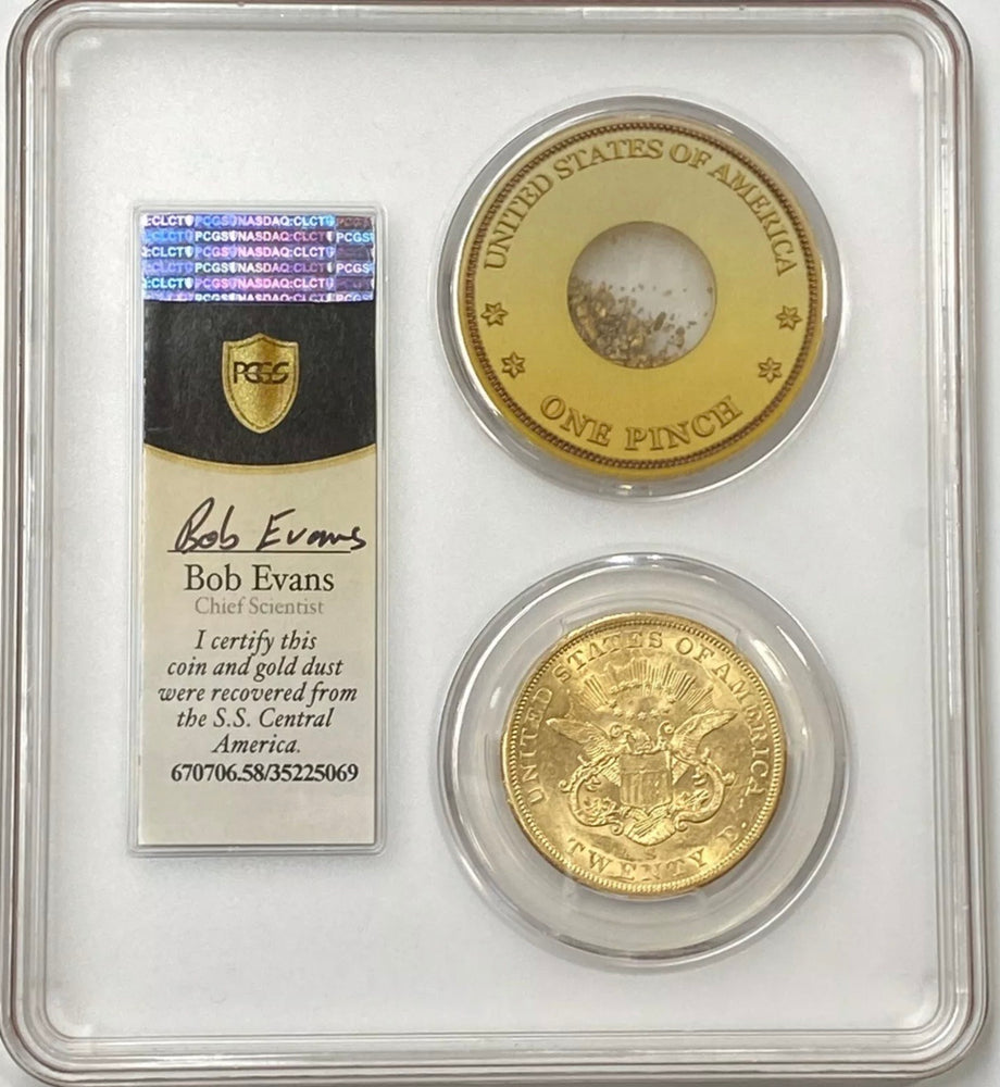 1856-S $20 Liberty Gold Double Eagle PCGS AU58 SS Central America Shipwreck PQ+