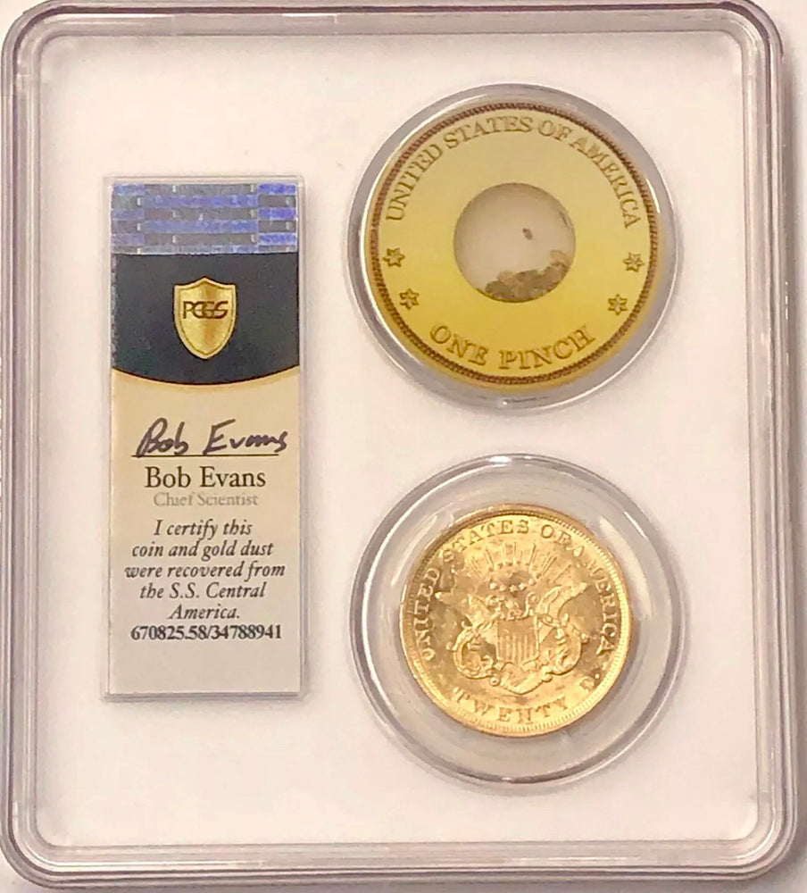 1853 $20 Liberty Gold Double Eagle PCGS AU58 CAC SS Central America Shipwreck