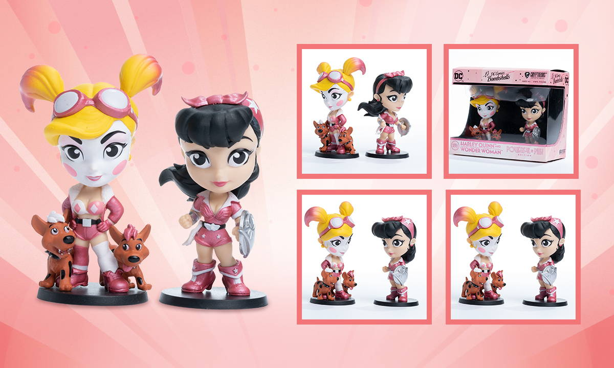 WONDER WOMAN AND HARLEY QUINN: POWERFUL IN PINK (CRYPTOZOIC EXCLUSIVE)