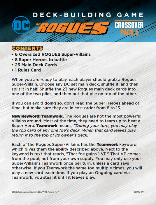 DC Deck-Building Game Crossover pack #5: The Rogues