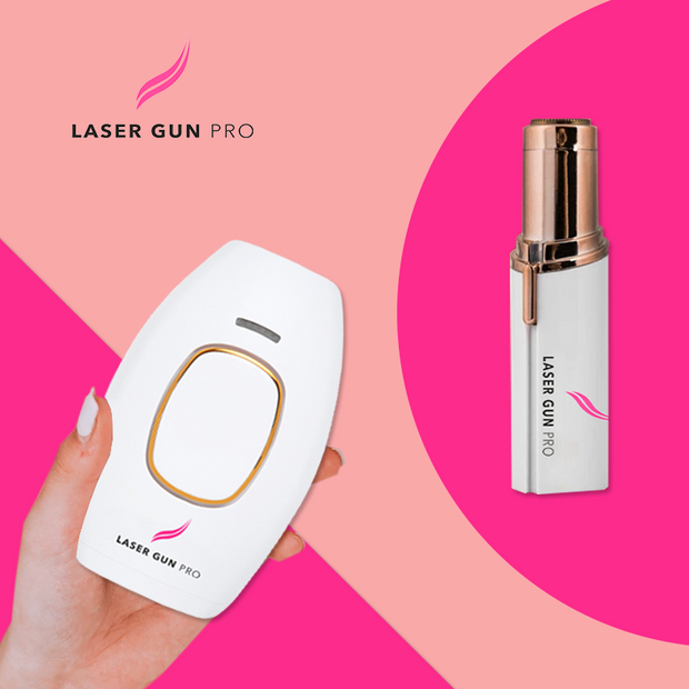 (On The Go Bundle ( Laser Gun Pro + Mini Shaver )