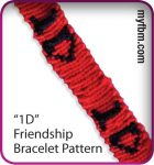 Custom Friendship Bracelet with Letters, Numbers, Symbols (1D example) Tutorial