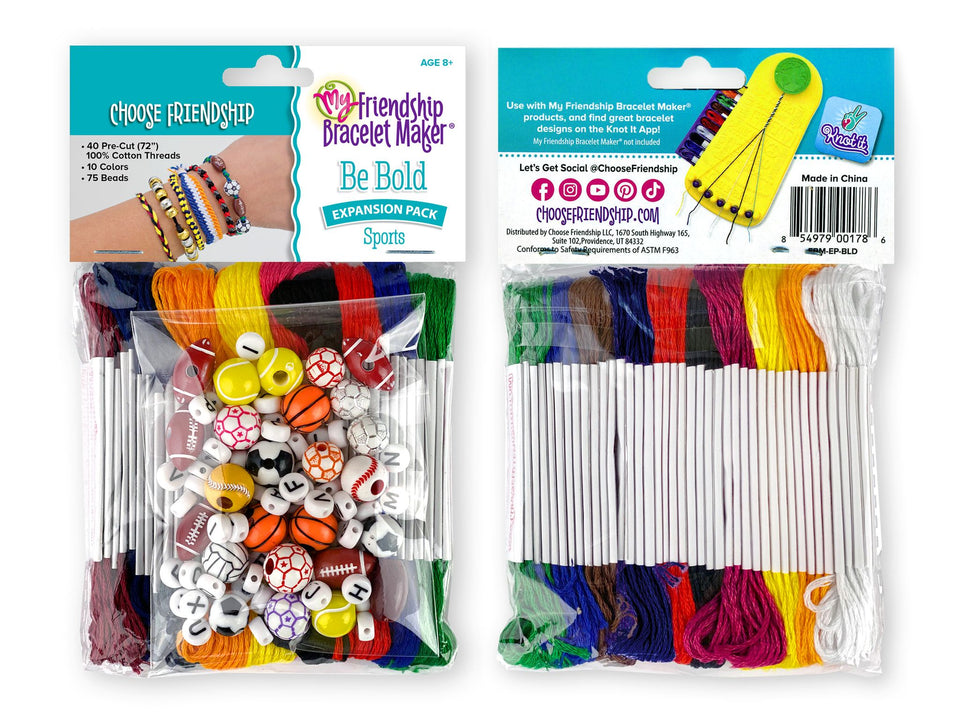 My Friendship Bracelet Maker Expansion Pack, Makes 8-16 Bracelets
