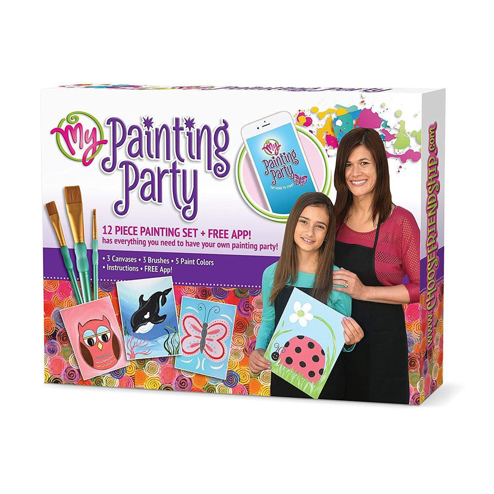 My Painting Party Kids Activity Group Painting Kit -