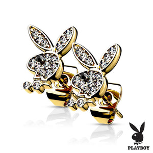 Open image in slideshow, Playboy Bunny Earrings