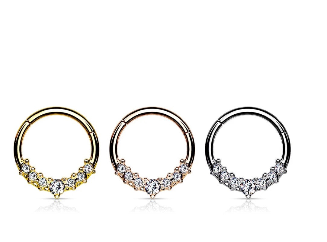 Princess Hinged Segment Ring
