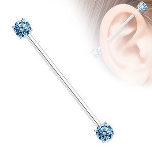 Open image in slideshow, Double Gem Industrial Barbell