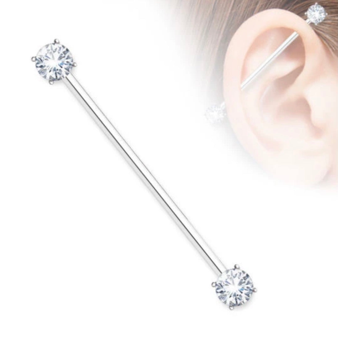 Double Gem Industrial Barbell