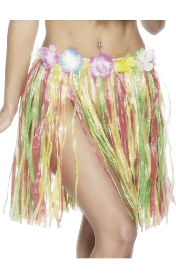 46cm Hawaiian Hula Skirt Multicolour