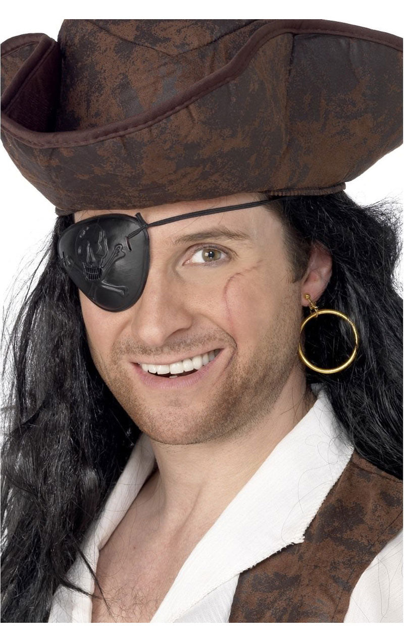 Pirate Eyepatch and Earring Accessory Set