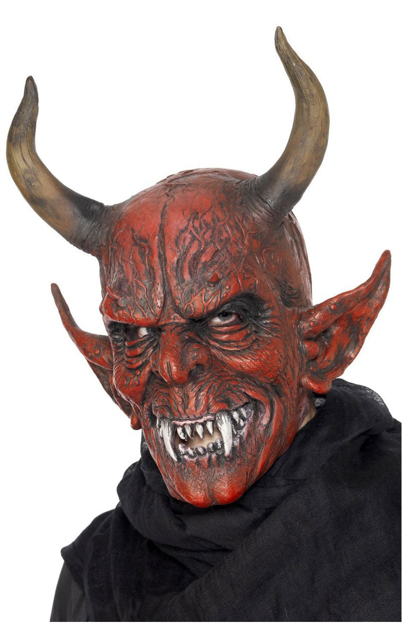 Adult Full Head Devil Mask with Horns