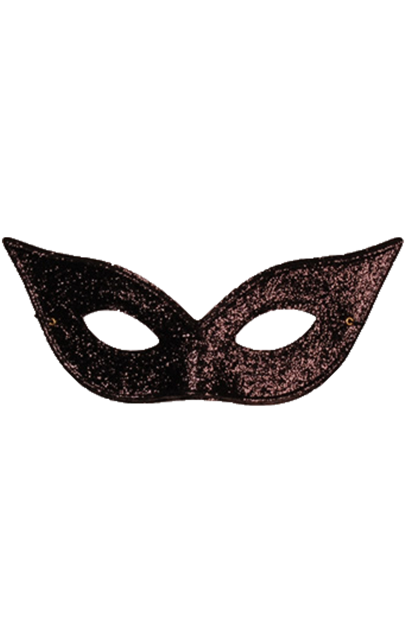 Black Pointed Glitter Mask