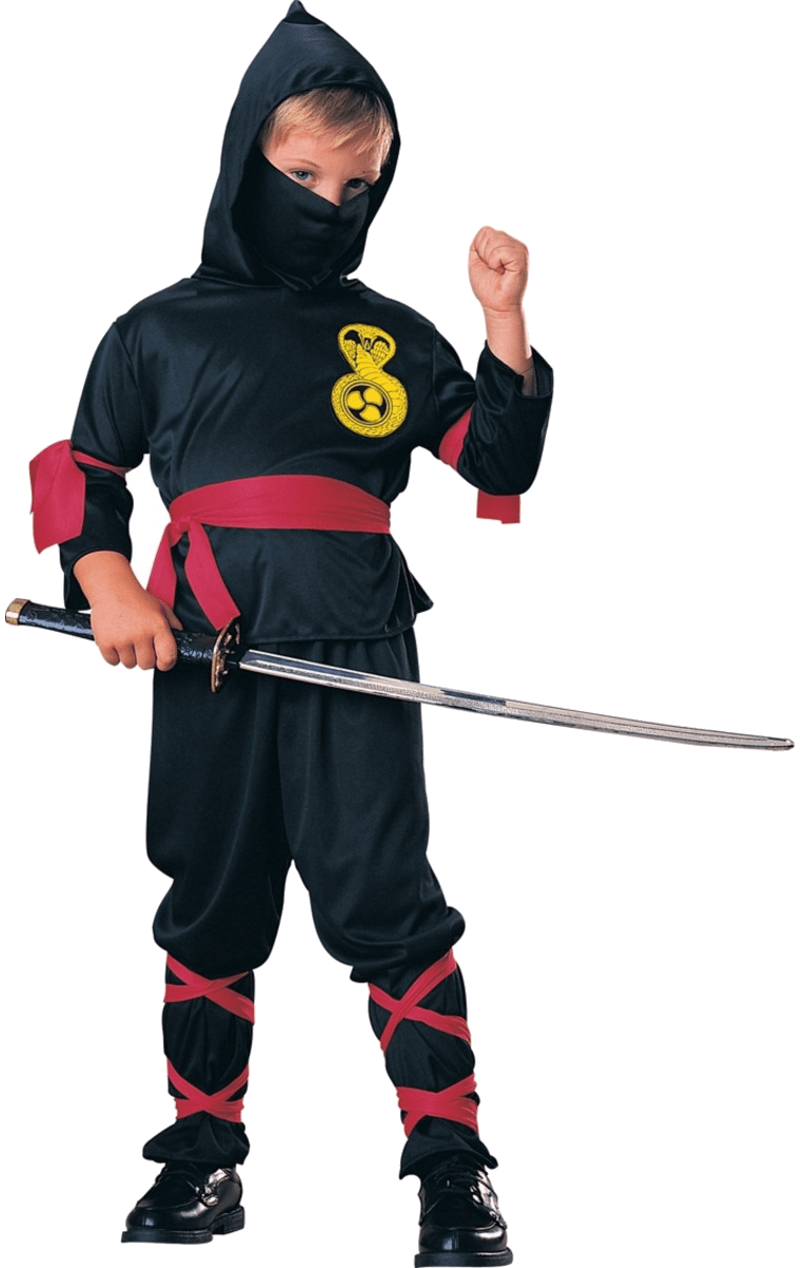 Child Boys Girls Ninja Warrior Fancy Dress Costume